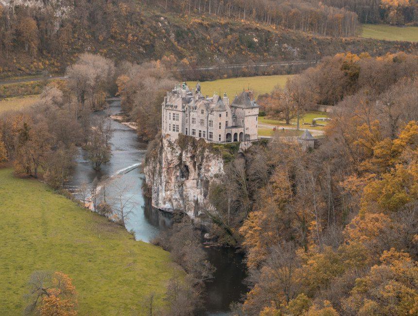 parc de Furfooz uitzicht kasteel Walzin