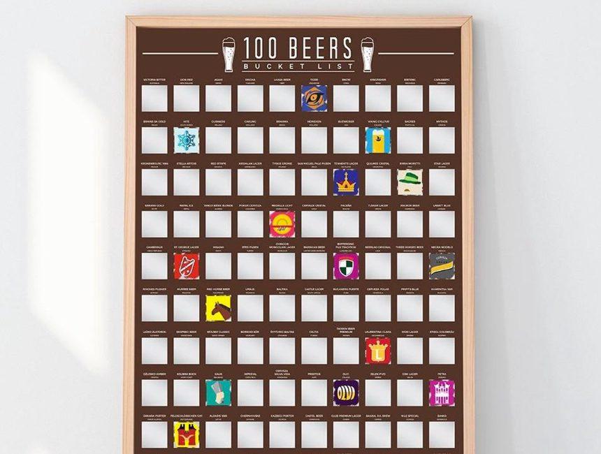 Bier bucket list kalender