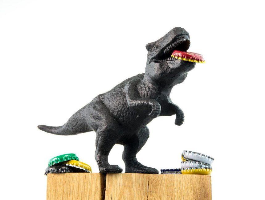 Dinosaurus flesopener originele kerstcadeautjes