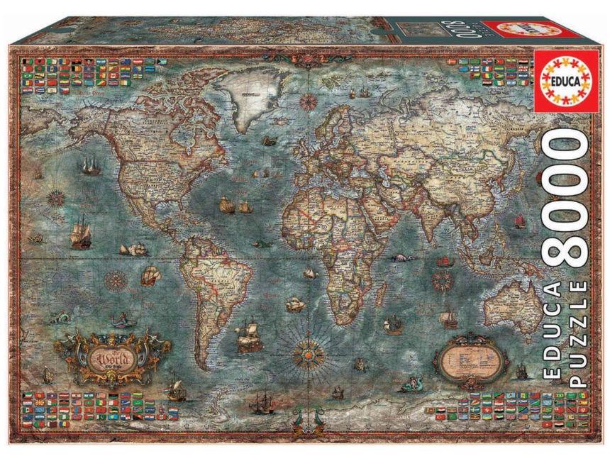 Historische wereldkaart puzzel