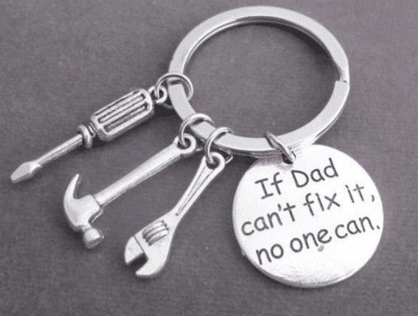 Sleutelhanger cadeau papa
