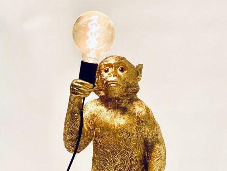 Tafellamp aap