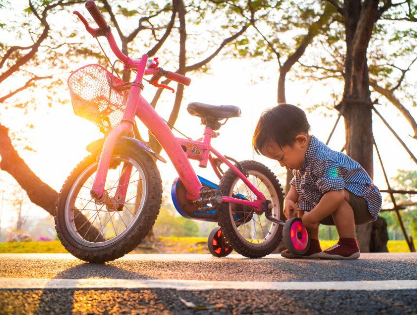 steunwielen fiets