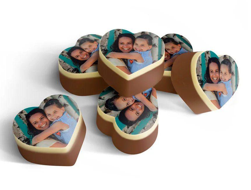 Chocolade pralines met foto