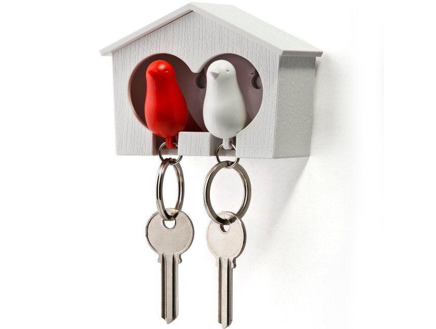 Vogelhuisje voor sleutels huwelijkscadeau idee