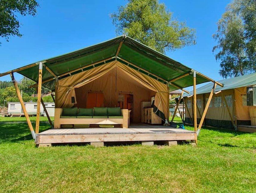 Safaritent op Camping la Douane