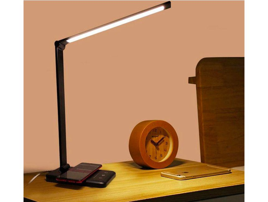 Bureaulamp smartphone oplader