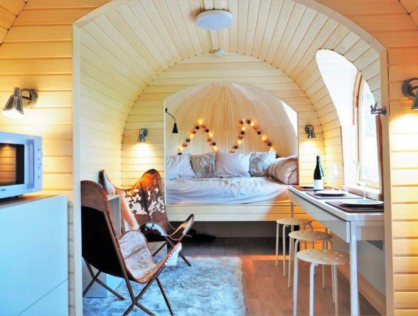 cabin in het bos Ardennen binnenkant