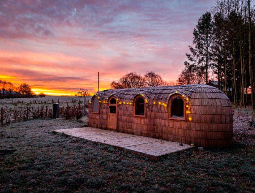cabin in het bos Ardennen