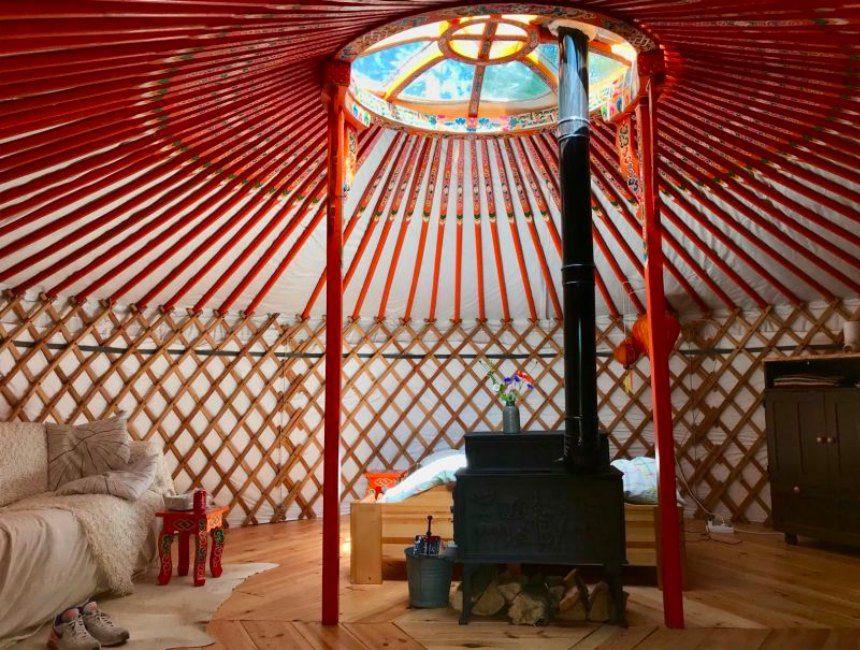 overnachten in de natuur Nederland yurt