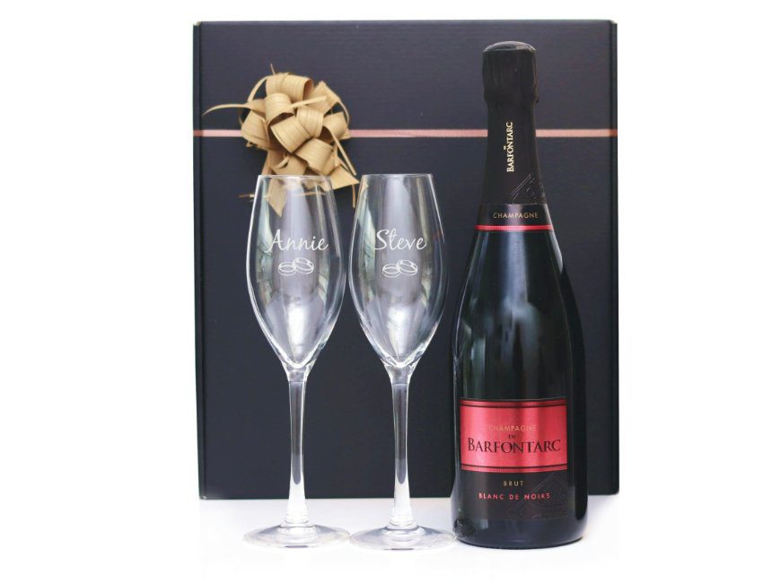 Champagne cadeauset