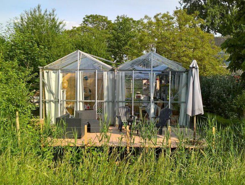 uniek overnachten Nederland tuinkas