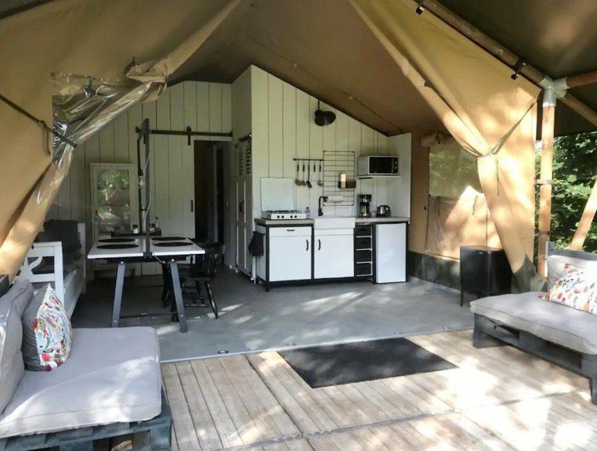safaritent bijzonder overnachten Nederlands Limburg