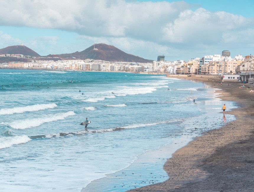 Las Canteras Beach roadtrip Gran Canaria
