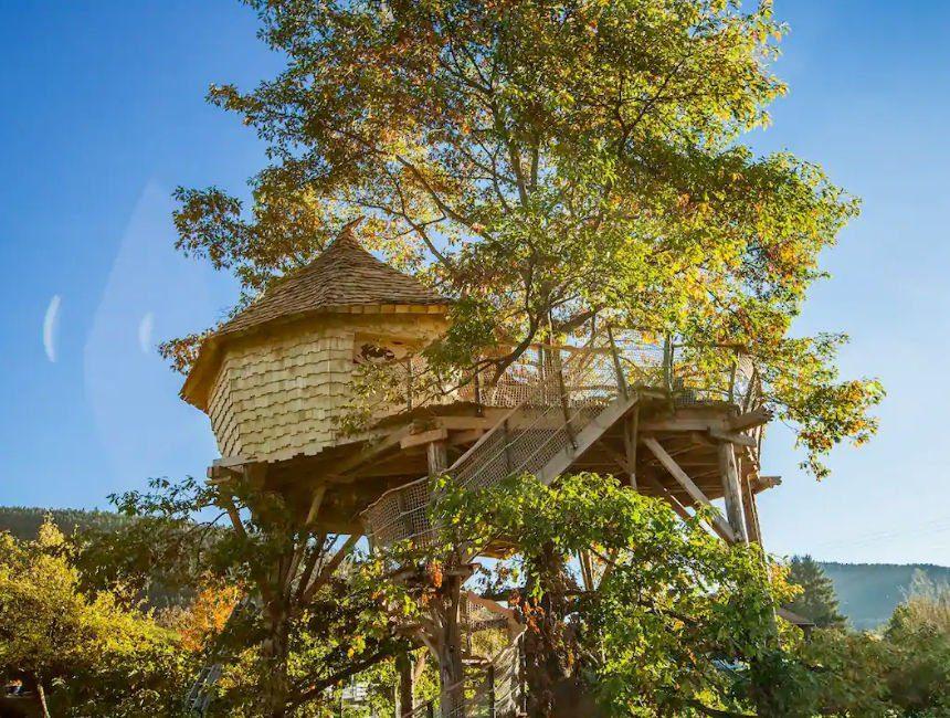 boomhut overnachting Frankrijk