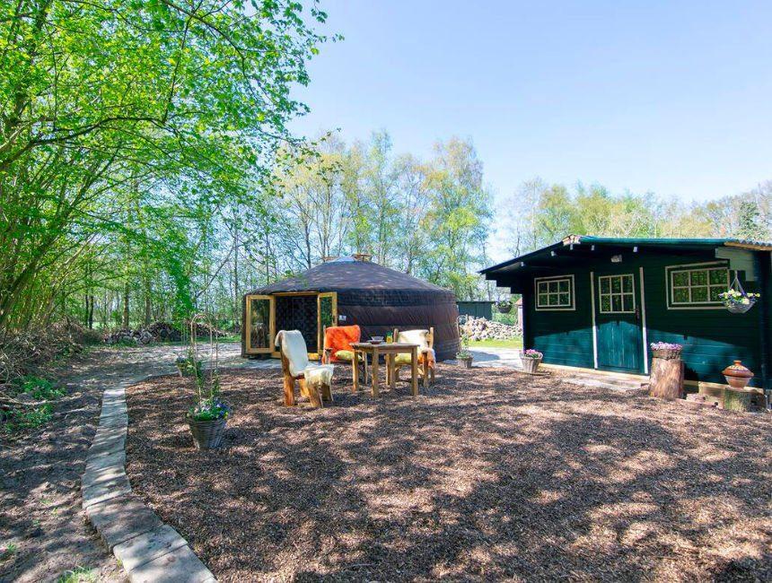 Drenthe bijzonder overnachten Yurt