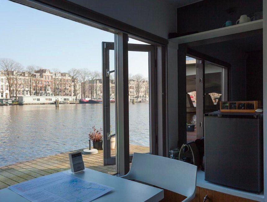 Houseboat Little Amstel uitzicht