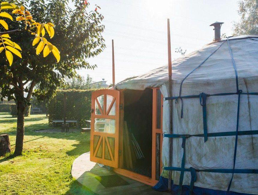 Origineel kamperen yurt Veluwe