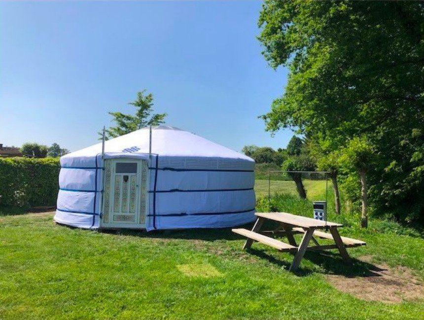 bijzonder overnachten Brabant yurt