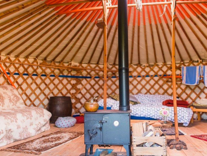 origineel overnachten Veluwe Yurt