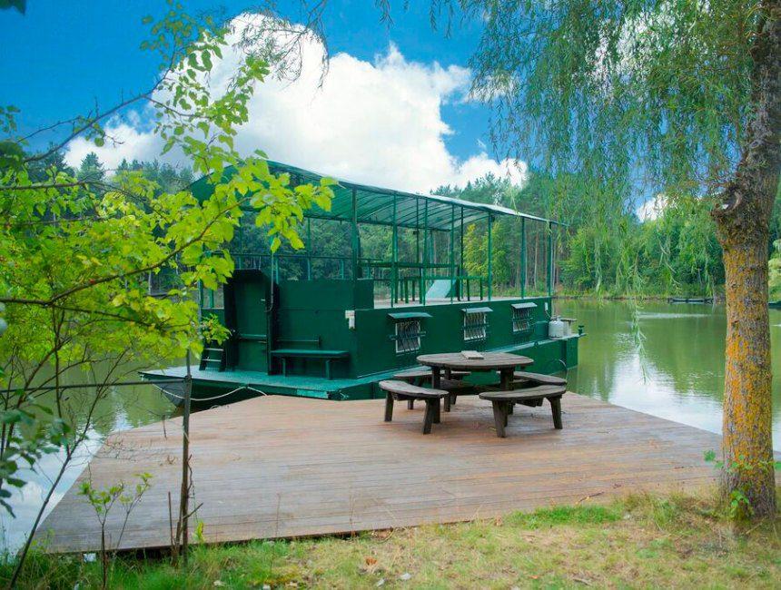 woonboot le bateau du lac prive