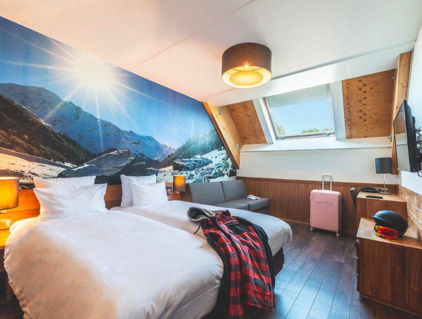 origineel overnachten Zuid-Limburg Alpine Hotel SnowWorld