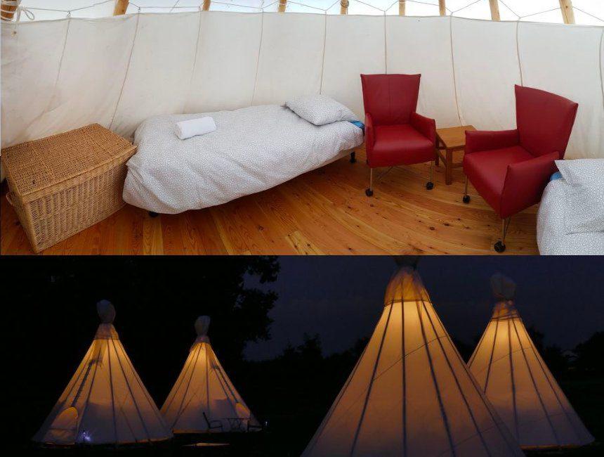 tipi bijzonder kamperen Limburg