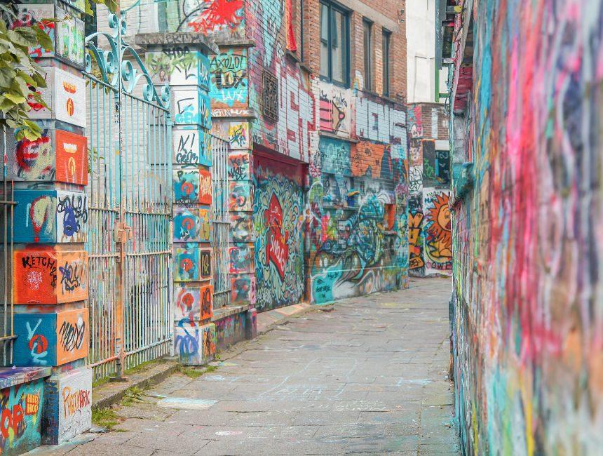 graffiti steegje gent bezienswaardigheden