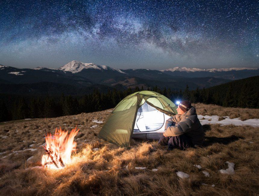 hoofdlamp kamperen op reis