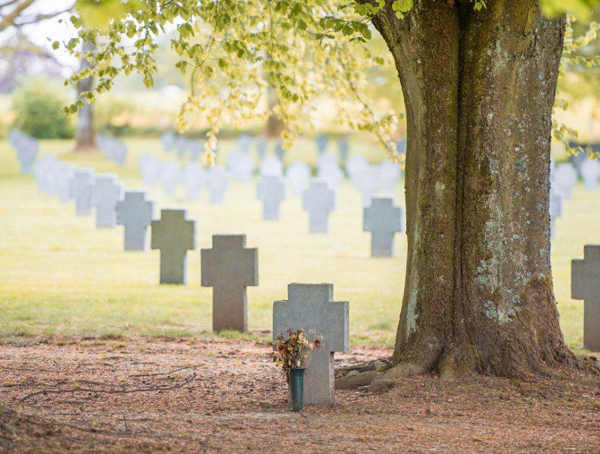 militaire begraafplaatsen Ardennen Recogne-Bastogne