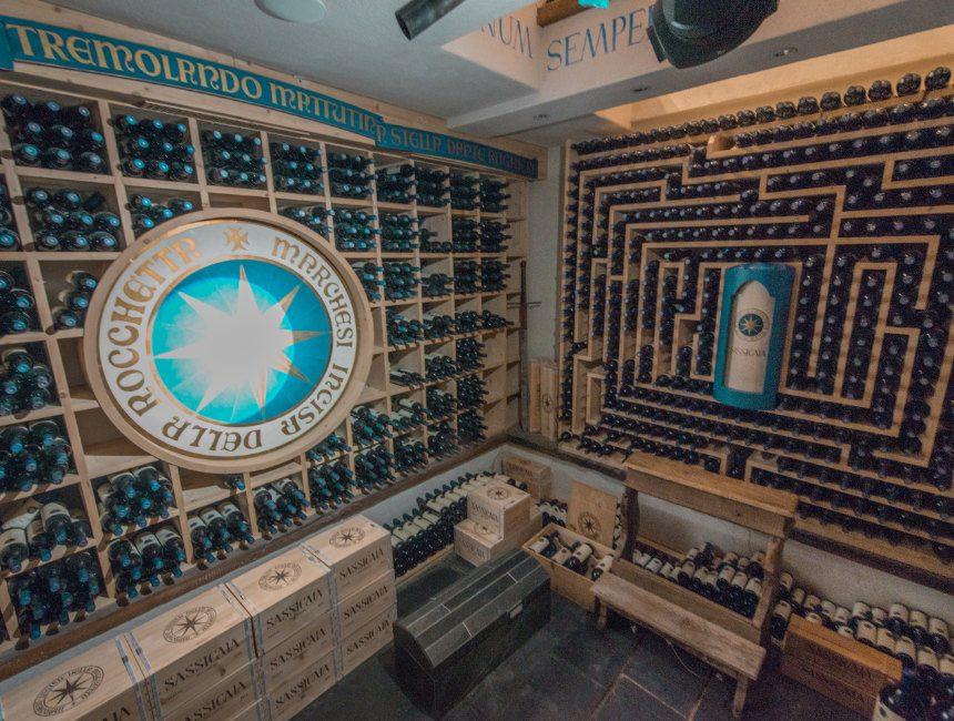 Sassicaia wijnkelder hotel la perla zuid tirol