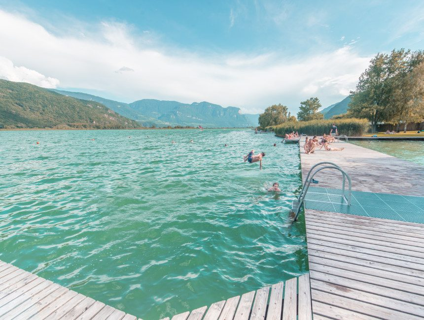 lago di caldaro Kaltern See zuid tirol