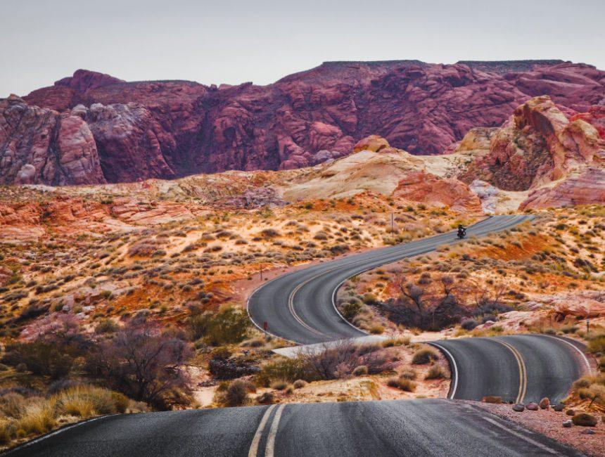 road trip USA sunny cars
