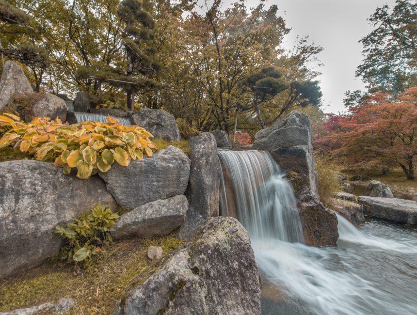 waterval Hasseltse Japanse tuinen