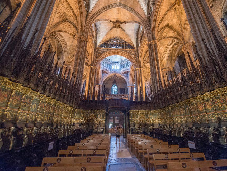 binnenkant kathedraal Barcelona