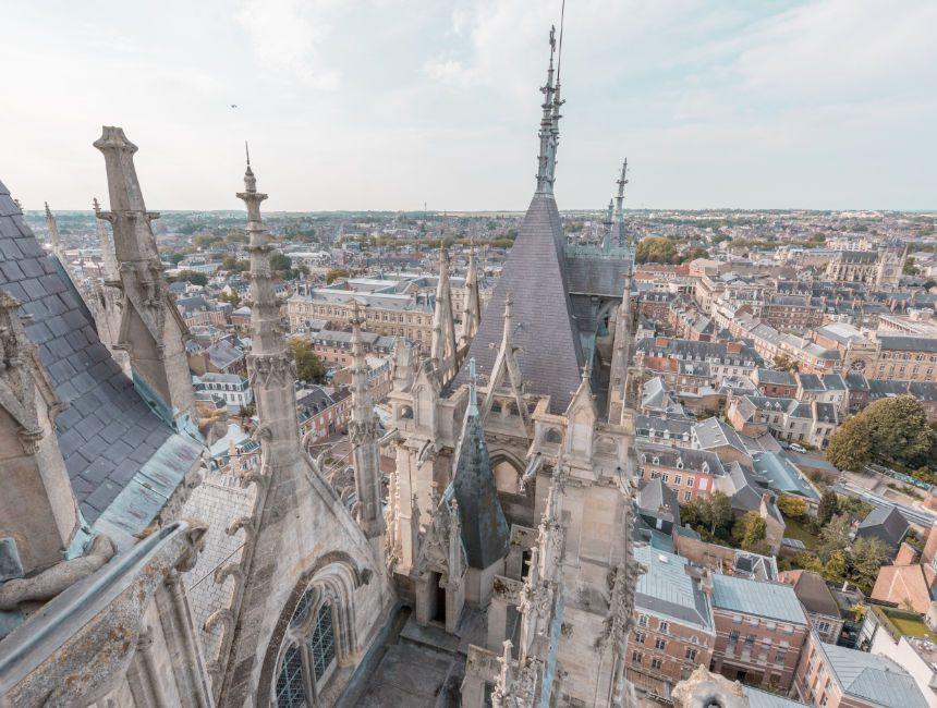 uitzicht kathedraal amiens toren