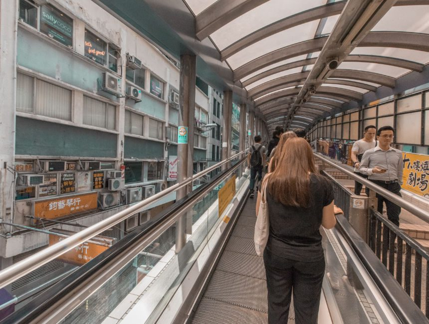 dingen om te doen in hong kong central mid levels escalator