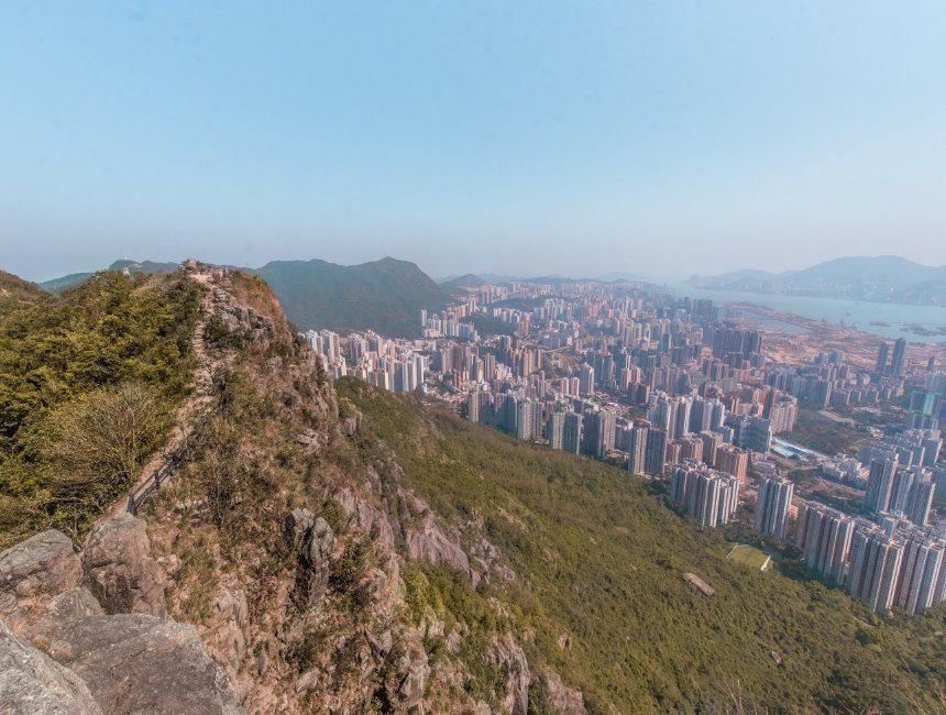 hong kong hiken lion head rock