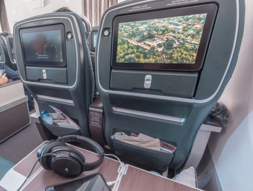 In flight entertainment cathay pacific premium economy