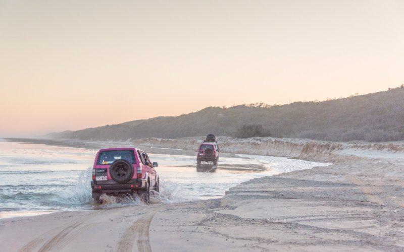 fraser island zand rijden offroaden