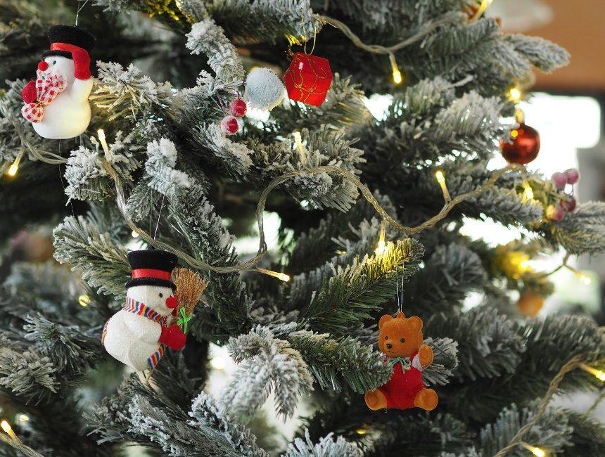 plastic kerstboom