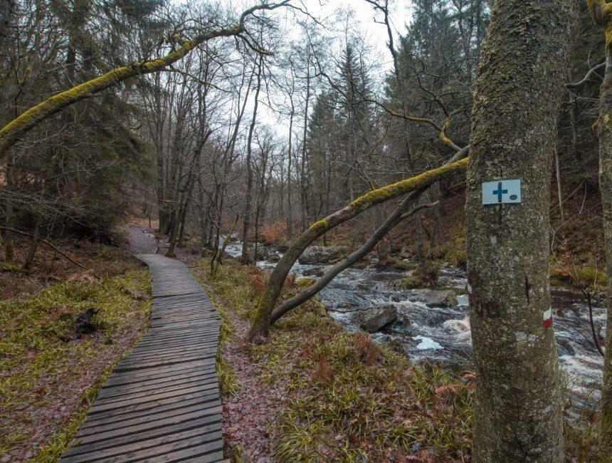aangeduide wandelroute Spa hoegne vallei