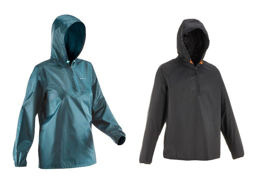 regenjas in zakje lichtgewicht opvouwbaar Quechua Raincut