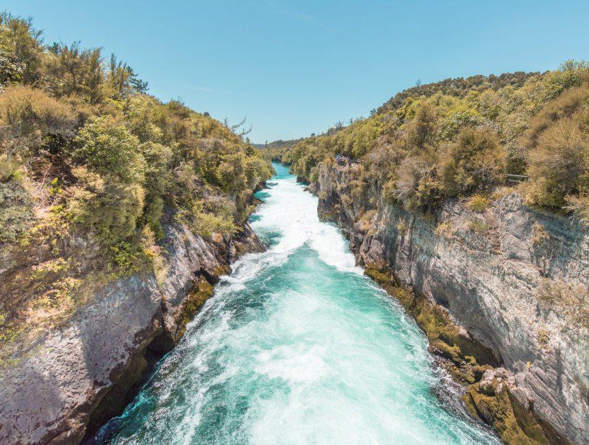 Huka Falls bezienswaardigheden nieuw-zeeland