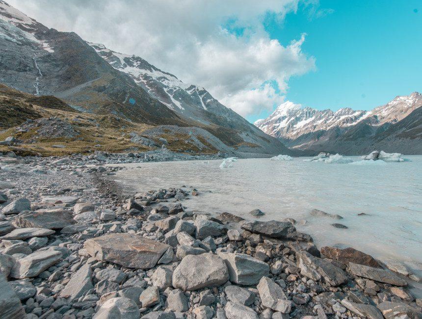 Nieuw-Zeeland bezienswaardigheden hooker valley track