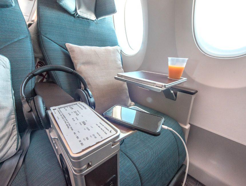 Vlucht Australie Cathay Pacific Premium Economy
