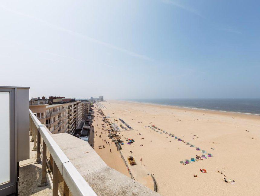 hotels aan de Belgische kust zicht op zee Andromeda