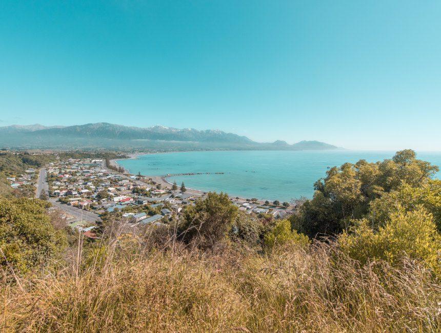 Kaikoura Lookout Point autorondreis Nieuw-Zeeland