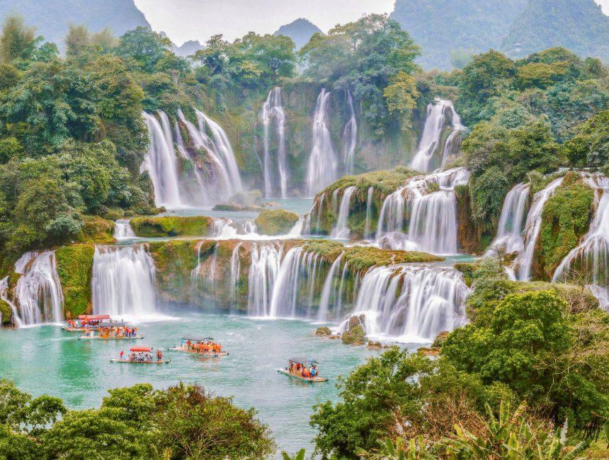 Ban Gioc watervallen Vietnam