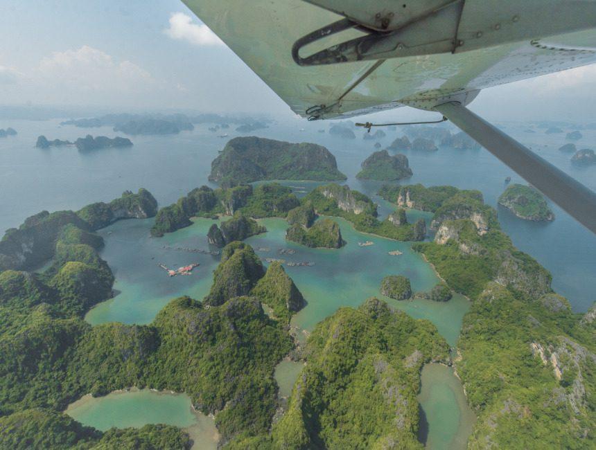 vietnam reistips vlucht Ha Long Bay